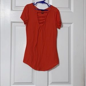 lace front shirt, worn once!